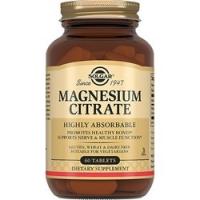 Solgar Magnesium Citrate - Цитрат магния 200 мг в таблетках, 60 шт
