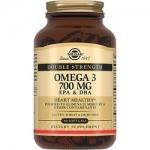 Фото Solgar Omega 3 700 mg - Двойная Омега 3 ЭПК и ДГК в капсулах, 60 шт