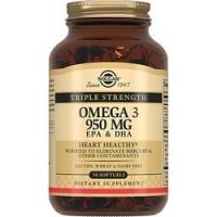 Купить Solgar Omega 3 950 mg - Тройная Омега-3 ЭПК и ДГК в капсулах, 50 шт