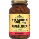 Фото Solgar Vitamin C 500 MG Rose Hips - Витамин С и шиповник в таблетках, 100 шт
