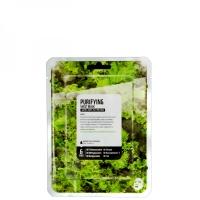 Купить Superfood Salad Facial Sheet Mask Kale Purifying - Тканевая маска «Кейл - Очищение», 25 мл, Superfood Salad For Skin