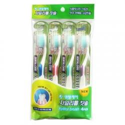 Фото Dental Care - Набор Ксилит: зубная щетка cо сверхтонкой двойной щетиной, средней жесткости и мягкой, 1 шт