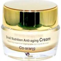 Co Arang Snail Nutrition Anti-Aging Cream - Крем антивозрастной для лица с экстрактом слизи улитки, 50 г