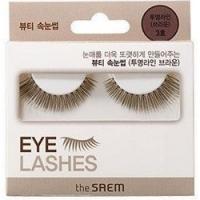Купить The Saem Eyelash Clear Line - Накладные ресницы 03, тон коричневый