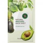 Фото The Saem Natural Avocado Mask Sheet - Маска тканевая с экстрактом авокадо, 21 мл