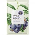 Фото The Saem Natural Blueberry Mask Sheet - Маска тканевая с экстрактом черники, 21 мл
