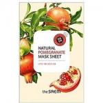 Фото The Saem Natural Pomegranate Mask Sheet - Маска тканевая с экстрактом граната, 21 мл