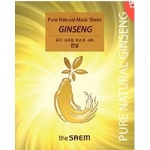 Фото The Saem Pure Natural Mask Sheet Ginseng - Маска тканевая с красным женьшенем, 20 мл