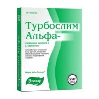 Турбослим - Альфа-липоевая кислота и L-карнитин, 20 шт