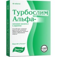 Турбослим - Таблетки с Альфа-липоевой кислотой и L-карнитином, 60 шт