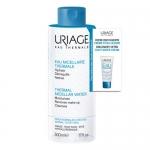 Фото Uriage - Набор Очищающая мицеллярная вода для нормальной и сухой кожи 500 мл + Eau thermale Легкий увлажняющий крем 15 мл