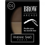Фото Vivienne Sabo Poudre Pour Les Sourcils Duo Brow Arcade - Тени для бровей двойные, тон 01