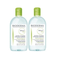 Bioderma Sebium Solution Micellaire - Очищающая вода, 2х500 мл