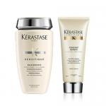 Фото Kerastase Densifique - Комплект: Шампунь - Ванна для уплотнения волос + Молочко, 250 мл + 200 мл