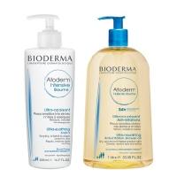 Bioderma Atoderm - Бальзам Интенсив, 500 мл + Масло для душа, 1 л
