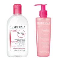 Купить Bioderma Sensibio - Мицеллярная вода, 500 мл + Очищающий гель-мусс, 200 мл