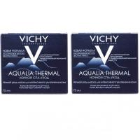 Vichy - Комплект: Аквалия Термаль Ночной Спа-ритуал крем-гель, 2 шт. по 75 мл, 1 шт