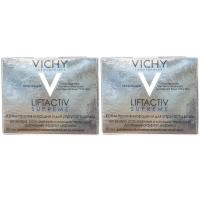 Vichy - Комплект: ЛифтАктив Супрем Крем для упругости для нормальной и комбинированной кожи, 2 шт. по 50 мл, 1 шт