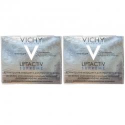 Фото Vichy - Комплект: ЛифтАктив Супрем Крем для упругости для нормальной и комбинированной кожи, 2 шт. по 50 мл, 1 шт