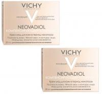 Vichy - Комплект: Неовадиол Компенсирующий комплекс для нормальной и комбинированной кожи, 2 шт. по 50 мл, 1 шт