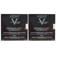 Vichy - Комплект: Дермабленд Пудра Тон 25, SPF 25, 2 шт. по 9,5 г, 1 шт