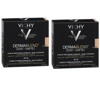 Vichy - Комплект: Дермабленд Пудра Тон 35, SPF 25, 2 шт. по 9,5 г, 1 шт