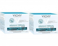 Vichy - Комплект: Аквалия Термаль Легкий крем для нормальной кожи, 2 шт. по 50 мл, 1 шт