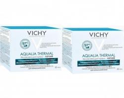 Фото Vichy - Комплект: Аквалия Термаль Легкий крем для нормальной кожи, 2 шт. по 50 мл, 1 шт