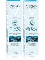 Vichy - Комплект: Аквалия Термаль Легкий крем для нормальной кожи, 2 шт. по 30 мл, 1 шт