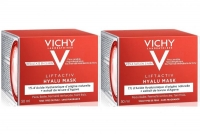 Vichy - Комплект: Лифтактив Гиалуроновая экспресс-маска для лица, 2 шт. по 50 мл, 1 шт