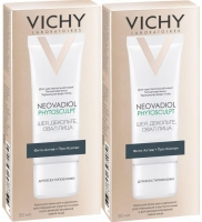 Vichy - Комплект: Неовадиол Phytosculpt Крем для зоны шеи, декольте и овала лица, 2 шт. по 50 мл, 1 шт