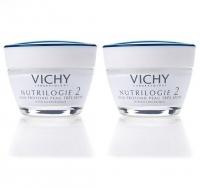 Vichy - Комплект: Крем-уход глубокого действия для очень сухой кожи Нутриложи 2, 2 шт. по 50 мл, 1 шт
