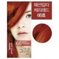 Welcos Fruits Wax Pearl Hair Color - Краска для волос на фруктовой основе, тон 66, 60 мл + 60 гр