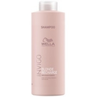 Купить Wella Invigo Blonde Recharge - Шампунь-нейтрализатор желтизны для холодных светлых оттенков, 1000 мл, Wella Professionals