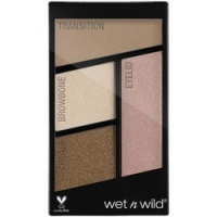 Wet-n-Wild Color Icon Eyeshadow Quad Walking on Eggshells - Палетка теней для век, 4 оттенка, тон E340b, 4,5 г