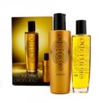 Набор для блеска волос Orofluido Promo Pack: Эликсир для волос + Шампунь для волос (Orofluido Beauty Elixir+Orofluido Shampoo) 100 мл+200 мл