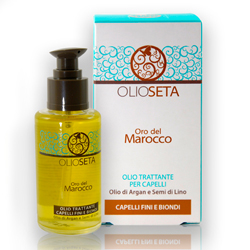 Barex Olioseta Oro del Marocco Oil Treatment Blonde-Fine Hair - Масло Блонд-уход с маслом арганы и маслом семян льна 30 мл