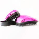 Dessata Kit Fuchsia Bright-Black - Набор Расчесок для волос: Оригинал + Мини, Фуксия хром