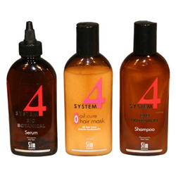 Sim Sensitive System 4 Комплекс от выпадения волос 215 мл + 200 мл + 215 мл