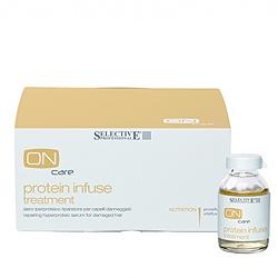 Selective On Care Nutrition Protein Infuse Treatment - Интенсивная протеиновая сыворотка для восстановления поврежденных волос 6*20 мл