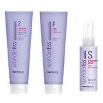 Brelil Wonderliss Kit 2 for fine/treated hair - Набор для выпрямления (тонкие и поврежденные волосы) 280мл+280мл+50мл
