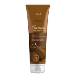 """Lakme Teknia Ultra brown treatment - Средство для поддержания оттенка окрашенных волос """"Коричневый"""" 250 мл"""