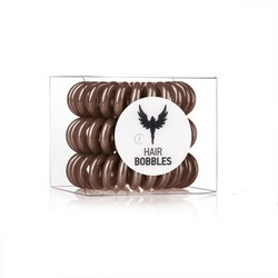 Hair Bobbles HH Simonsen Brown 3-Pack - Резинка-браслет для волос, коричневая