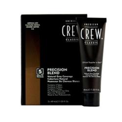 American Crew Precision Blend - Краска для седых волос пепельный оттенок 5/6 3*40 мл