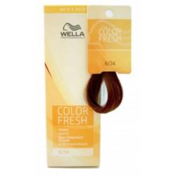 Wella Color Fresh Acid - Оттеночная краска, тон 6.34 темно-золотистый медный, 75 мл.