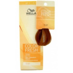Wella Color Fresh Acid - Оттеночная краска, тон 7.47 светлый гранат, 75 мл.
