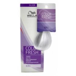 Wella Color Fresh Silver - Оттеночная краска, тон 8.81 светлый блондин жемчужно-пепельный, 75 мл.
