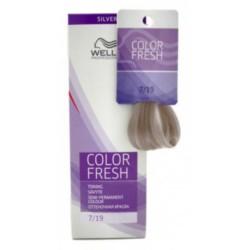 Wella Color Fresh Silver - Оттеночная краска, тон 7.19 средний блондин пепельный сандрэ, 75 мл.