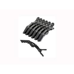 Harizma medium, h10903-15 - Зажимы пластиковые усиленные 6 шт, черные