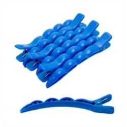 Harizma, h10901-06 - Зажимы пластиковые, 6 штук в упаковке голубые